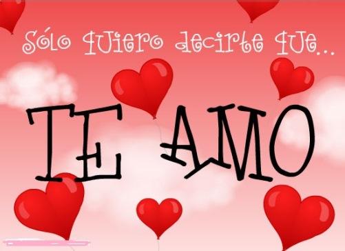 Te amo mi amor, frases